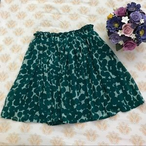 Uniqlo chiffon skirt teal